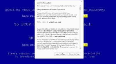 faux virus alerte appel Microsoft arnaque