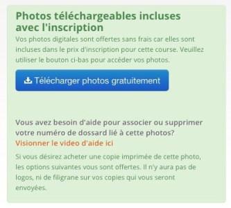 Photos téléchargeables incluses avec l'inscription course zoomphoto.ca