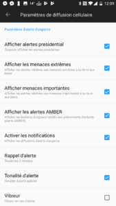 Notifications alertes Android