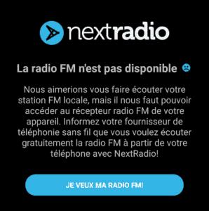 Capture d'écran NextRadio next radio FM gratuite téléphone