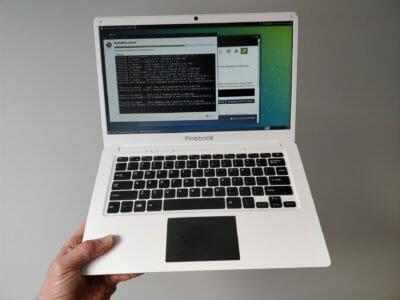 test essai Pinebook laptop 100$