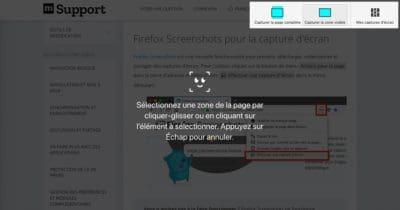 Capture d'écran taille précise page web