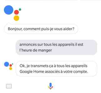 truc Google Home intercom diffuser message mégaphone