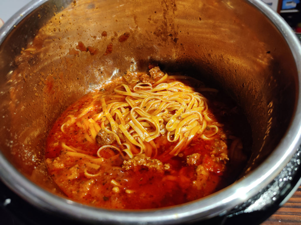 recette spaghetti IP 20 minutes
