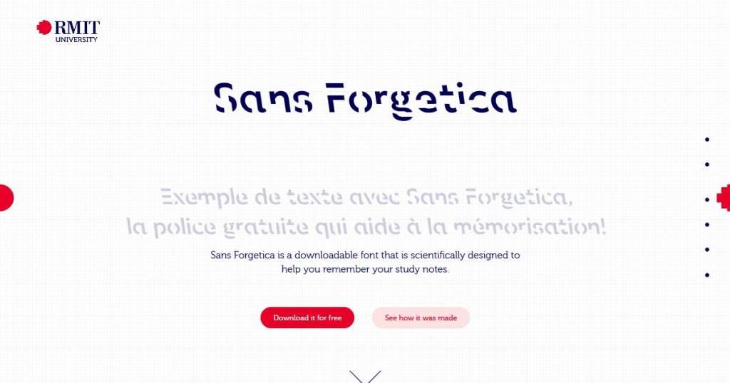 police caractère ordinateur Sans Forgetica exemple
