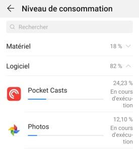 Vérifier niveau de consommation batterie téléphone appareil iOS Android