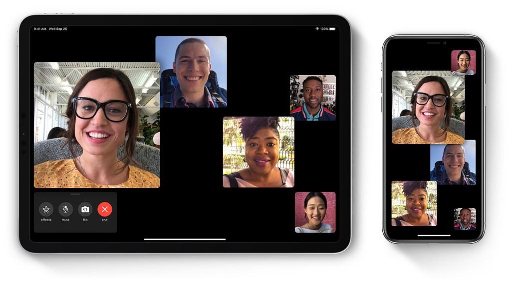 comment faire un appel Facetime en groupe