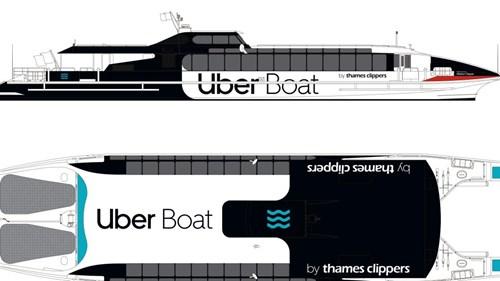 nouvelles technos Uber Boat Thames Clipper
