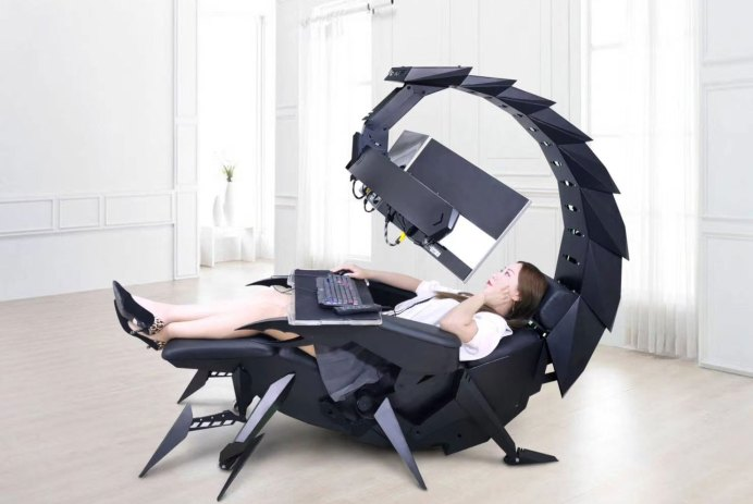 cluvens scorpion chaise ordinateur computer cockpit