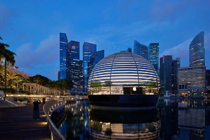 boutique apple store singapour flottante