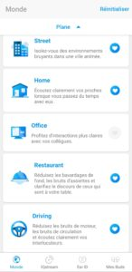 Interface application Neheara iqbuds2 écouteurs sans fil