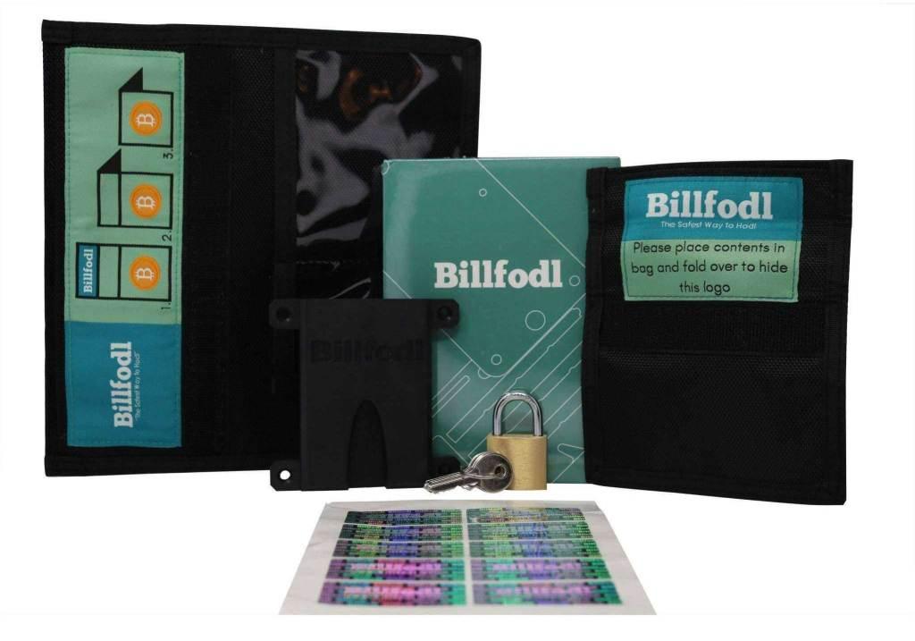 Billfodl cyber security bundle stockage métal recovery seed mot récupération Bitcoin bitcoins