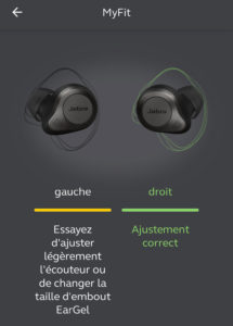 jabra elite 85T smart fit myfit ajustement test