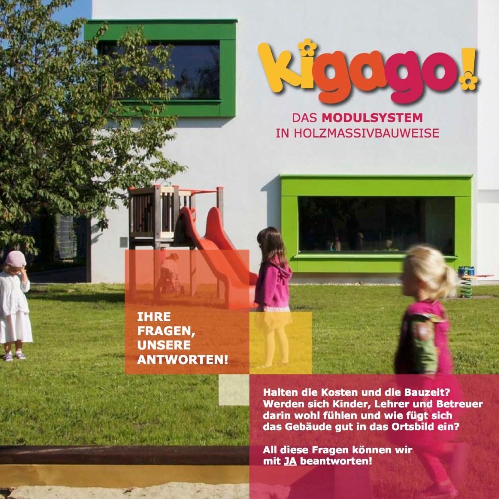 Titelbild des Folders der ARGE kigago