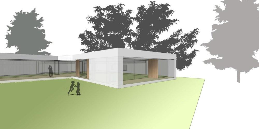 3D Planung (Rendering) eines Bungalows in Massivholzbauweise im Burgenland - Paschinger Architekten