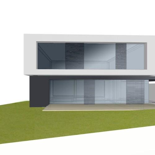 Rendering/Vorschau eines Einfamilienhauses in Perchtoldsdorf, Niederösterreich - geplant von den Paschinger Architekten aus Wien