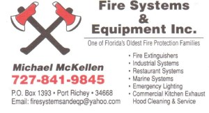 Fire Systems and Equipment Business Card