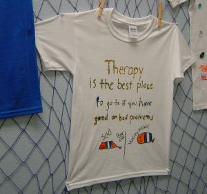 Sexual treatment by arts and crafts to expose the abuse childs thoughts