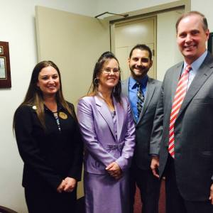 Dana, Shannon and Adam with Senator Simpson