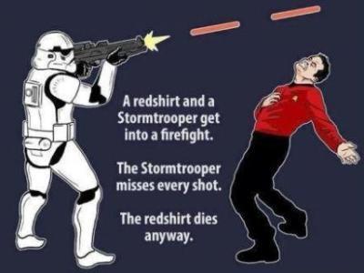Stormtrooper verses Redshirt