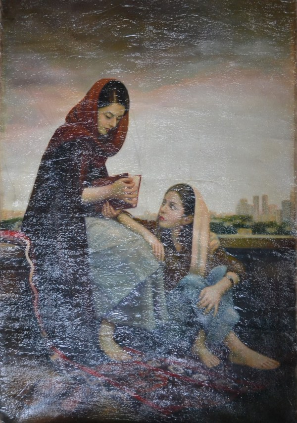 World Famous Original Abstract Art Oil Paintings Pashmina