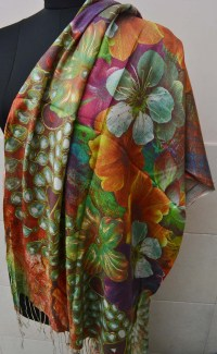 Buy online Printed Pashmina Scarf - Stoles - Scarves