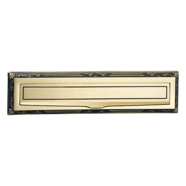 Buca lettera ottone graffiato verniciato Sorriso