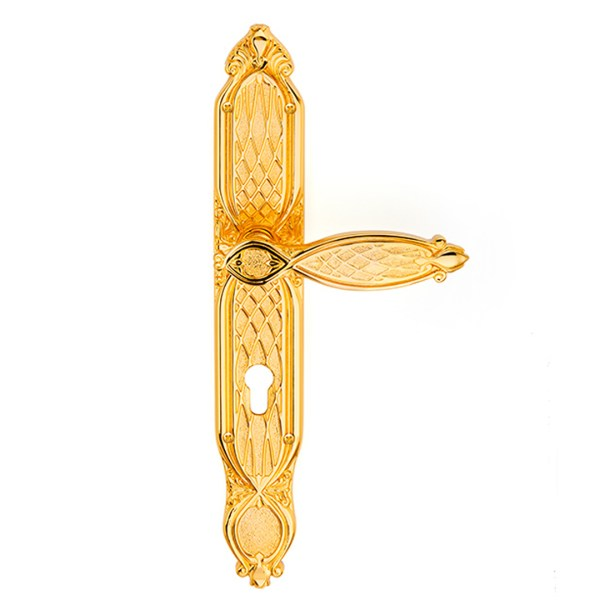 Handle on plate gold 24kt Ramses Classique