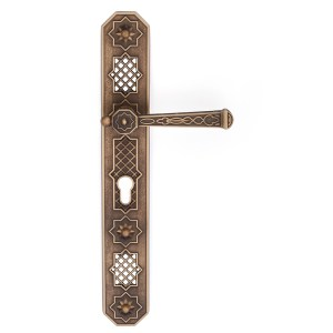 Handle on plate yester bronze brass eden classique