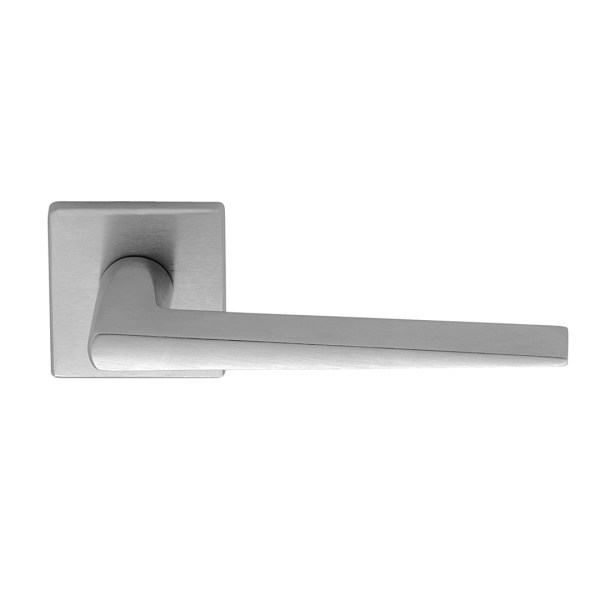 Handle on square rose satin chrome cervinia i-design