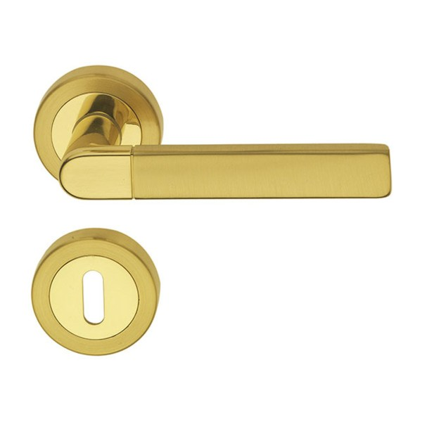 Handle on round rose satin brass expo-2-fashion