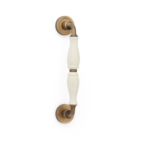 Pull handle yester bronze brass porcelain godiva classique