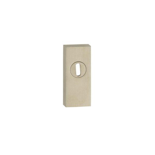 Bocchetta sicurezza rettangolare mm. 15 inox