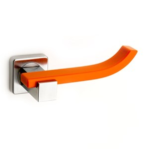 Maniglia su rosetta cromo Corian Mandarin Plus Up Fashion