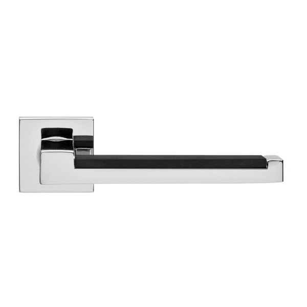 Handle on square rose black chrome brass lucca i-design