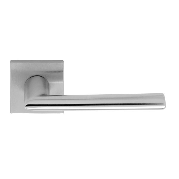 Handle on rose satin chrome bellagio i-design
