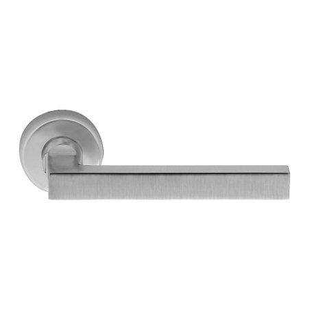 Handle on rose satin chrome pompei i-design