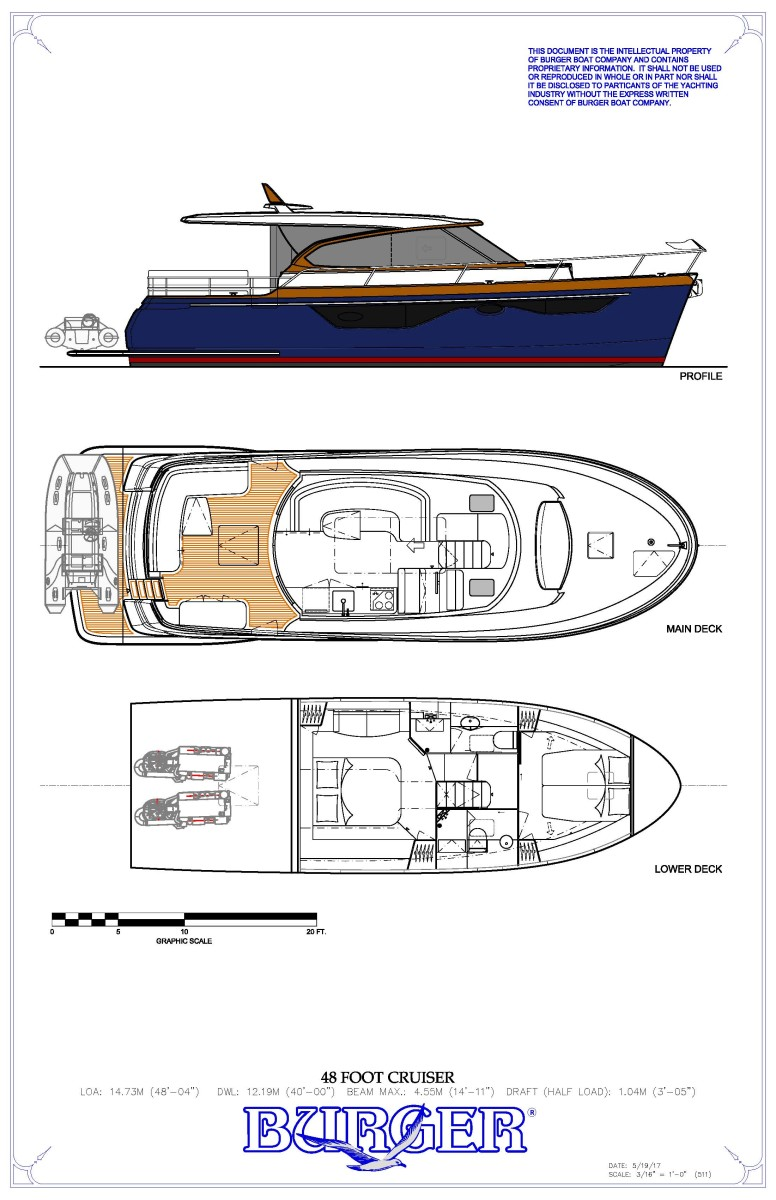 hight resolution of the burger 48 cruiser general arrangement