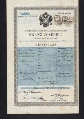 1858 Francesco I Issued Wienna
