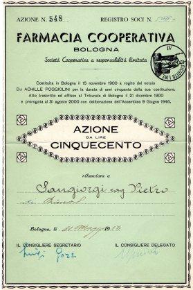1954 Farmacia Cooperativa Bologna