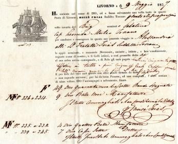 1837 Livorno ''Moise' Frias'' per Alessandria