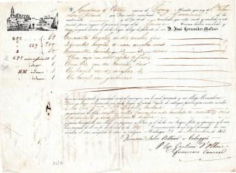 1853 Malaga ''D. Jose' Hernandez Molina con veliero Toscano per Genova