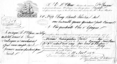 1859  Malaga per Trieste