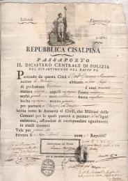 1801 Repubblica Cisalpinadato aFerrara a Giacomo Munarini di Modena