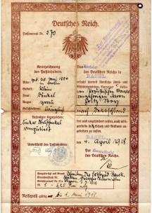 1918 Reisepass Germania ril a Basel Svizzera,,,,,