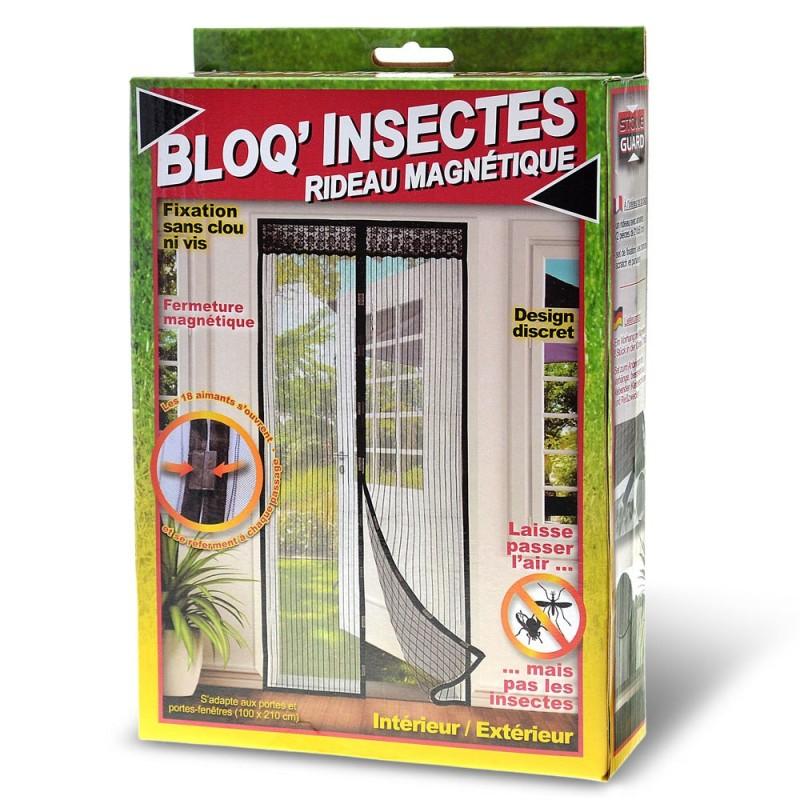 rideau magnetique bloq insectes
