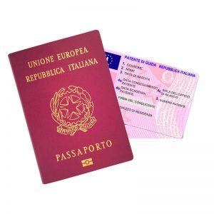 spedizione passaporti documenti identita patente italia estero