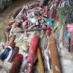 Phallic offerings, Princess Cave, Railay Beach