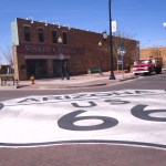 Standing on a corner in Winslow, AZ