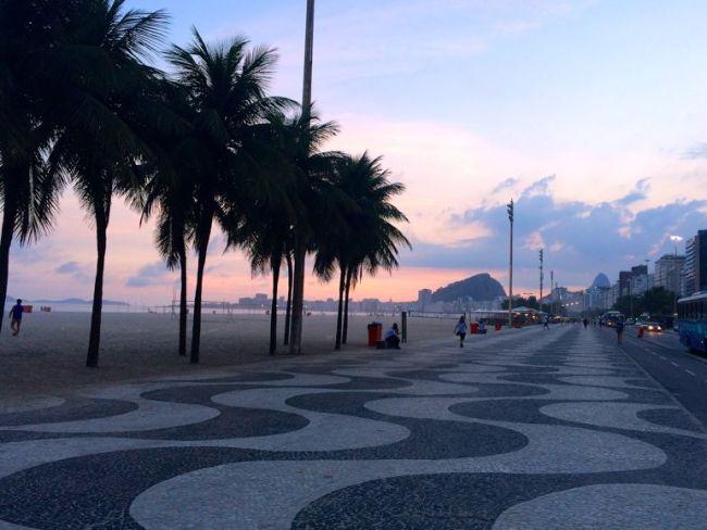 copa beach at sunset